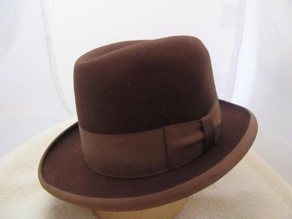 1940s Rogers Peet Co. Gents Formal Brown Fedora