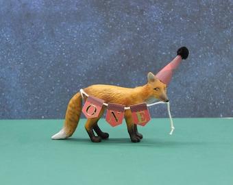 Fox Cake Topper,  Camping Theme Party Fox, Happy Camper Birthday Party, Camping Birthday Fox, Woodland Animal Birthday