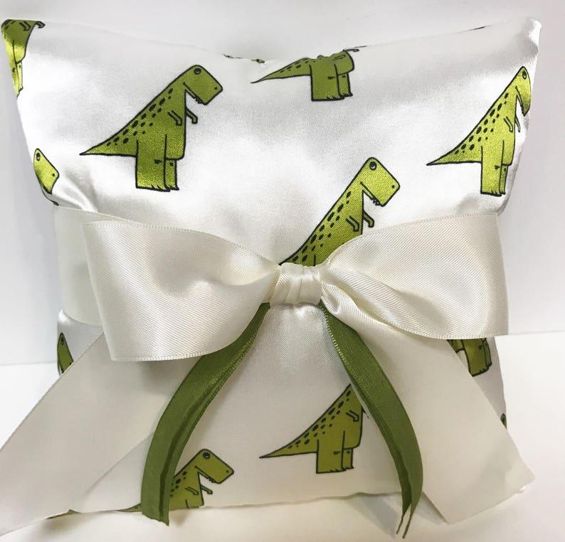 dino pillow ring pillow Dinosaur ring bearer pillow Dinosaur wedding dino ring bearer pillow Dinosaur Wedding Ring Pillow Trex Wedding