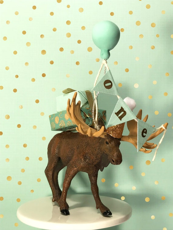 Brilliant Moose Cake Topper Customize Your Number Birthday Party Etsy Funny Birthday Cards Online Overcheapnameinfo