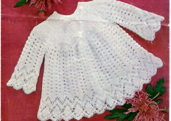 Pdf Knitting Pattern Baby Sweater Top Baby Girl Baby Dress Etsy