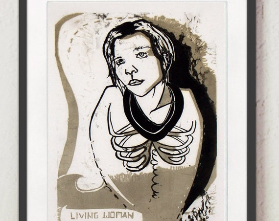"Print - ""Living Woman with No Legs"""