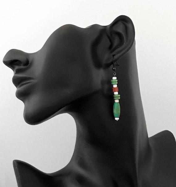 Hand-made Beaded Earrings - 1 pair