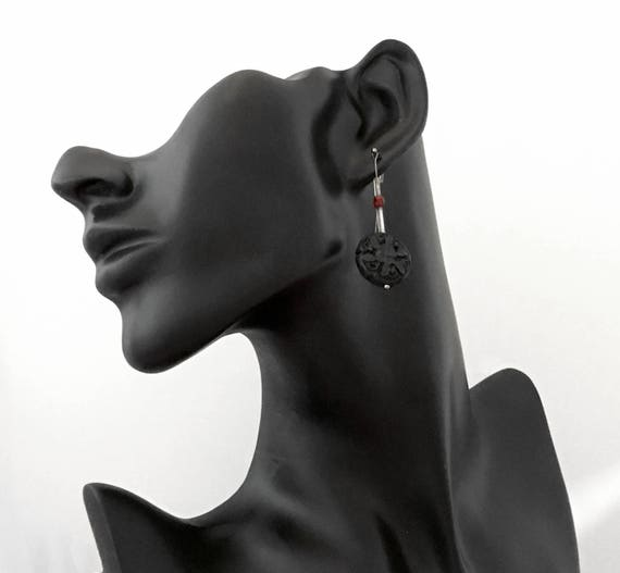 Earrings- Hand-made Beaded Sun Drop Earrings - 1 pair