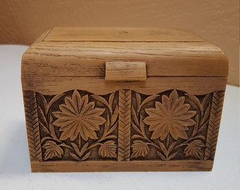 Recipe or Index Card File Box by Lerner made in USA - Oak Hill Vintage