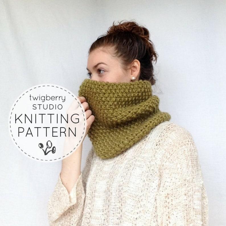 Knit Cowl Pattern KNITTING PATTERN Winter Cowl Pattern Northwoods Cowl PDF Pattern Women/'s Cowl Pattern