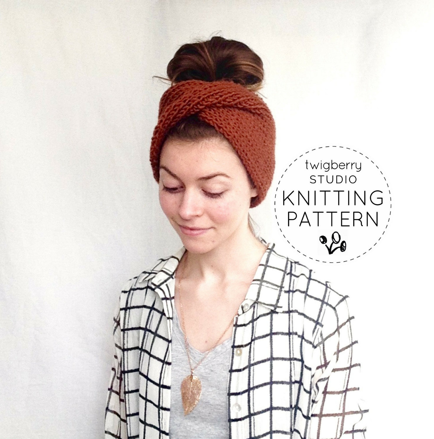 Turban KNITTING PATTERN Twisted Knit Headband Pattern Twisted Turban ...