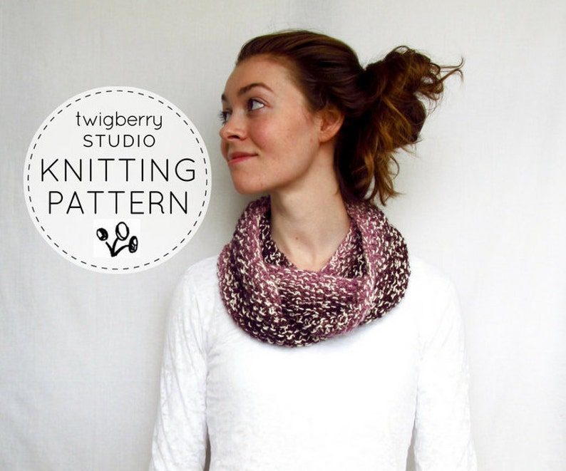Infinity Scarf Knitting Pattern Cowl Knitting Pattern Scarf Etsy