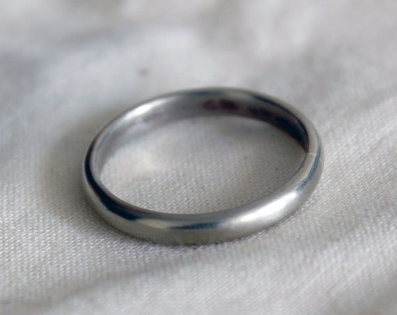 White Gold Ring, handmade in solid 14K gold