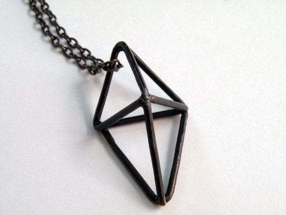 Triangle Pyramid Cage Necklace