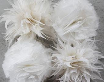 Feather flower etsy feather flower tutorials pdf tutorials diy home decor mightylinksfo