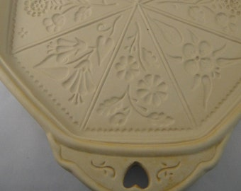 Floral Wild Flowers Large  Brown Bag Cookie Art Mold 1988