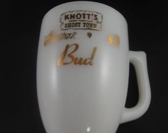 Knotts Berry Farm Milk Glass Mug Personalized Bud