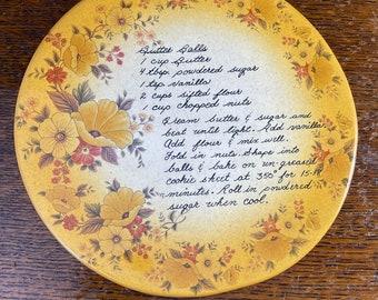 Cookie Recipe Ceramic Trivet 1983