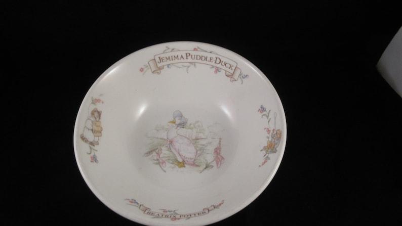 Jemima Puddle-anfdDuck Beatrix Potter Ceramic Bowl by Royal Albert Bone China of England 1986