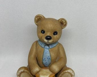 Honey Bear Porcelain Bear Holding Pot of Honey Homco #1405
