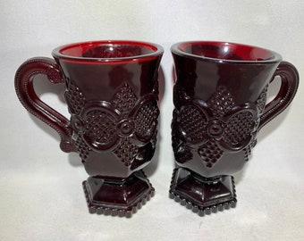 Avon Cape Cod 1876 Pattern Pair of Mugs