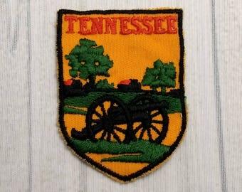 "Used Vintage Tennessee Travel Souvenir Patch 2.6"", Murfreesboro, Stones River National Battlefield Souvenir, Volunteer State Memorabilia"