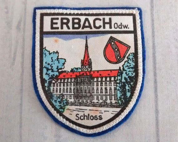 Patch printed embroidery travel souvenir shield city flag berlin germany