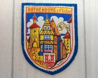 "Vintage Rothenburg ob der Tauber Souvenir Patch 2.75"", Markusturm, Röderbogen Arch, Germany Collectible"