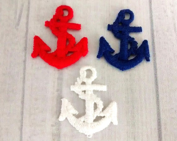 Lot of red white and blue anchor patches etsy
