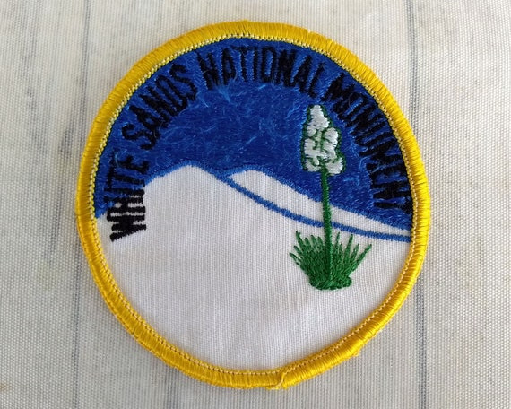 Iron on White Sands National Monument New Mexico Patch