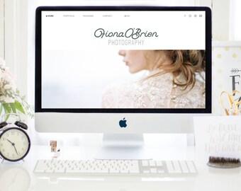 Fiona : SHOWIT + WORDPRESS Template - Enterpreneur - Photographer - Blogger - Designer - Website - Instant Download