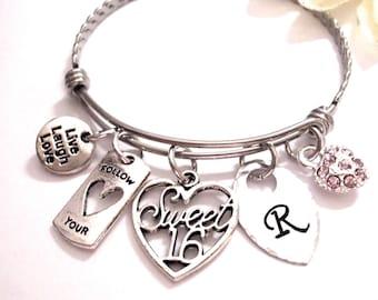 Sweet 16 Gift, Sweet 16 Bracelet, Sweet 16 Jewelry, Birthday Bracelet, Sweet 16 Birthday Bracelet, Sweet 16 Birthday Jewelry