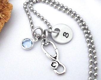 Stethoscope Jewelry, Stethoscope Keychain, Nurse Jewelry, Medical Jewelry, Gift for Nurse, Medical Student Gift, MD, Doctor  Keychain