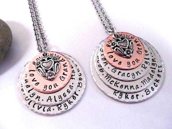 grandma jewelry grandma necklace personalized jewelry etsy