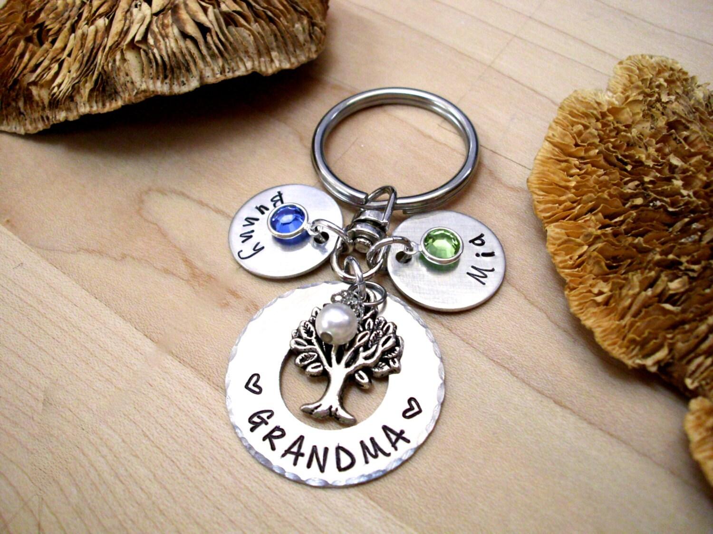 Grandma Keychain Family Tree Grandma Gift Christmas Gift ...