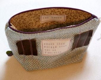 Zitat Tasche - Reissverschlusstasche mit persönlicher Nachricht