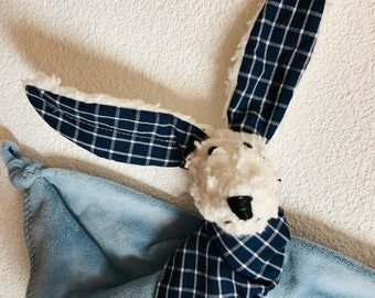 Blue Snuggler Bunny (soother attached)
