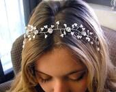 Bridal hair vine, Wedding hair accessories, sparkle Rhinestones, head piece, Hair Vine Tiaras, hair piece fascinate