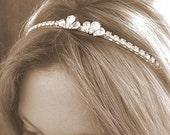 BRIDAL headband , TIARA, wedding  HAIR accessories, Rhinestones headband,  bridal hair accessories