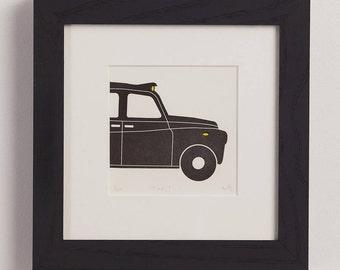 Taxi! Letterpress print
