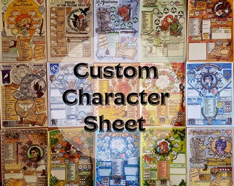 Printable Dungeons & Dragons character sheet PDF Autumn   Etsy
