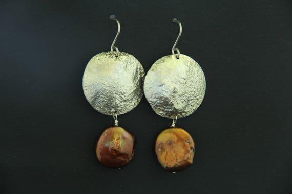 Hand-made CALLA LILY EARRINGS SL1064 Silver ear-wires. Silver Earrings Wedding Jewelry