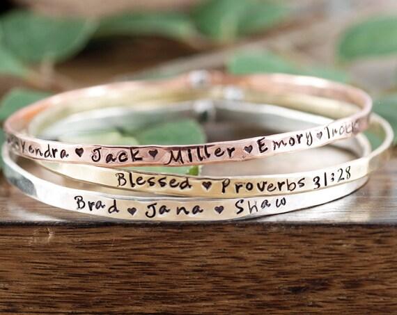 Personalized Bible Verse Bracelet, Name Bracelet Bracelet, Bracelet for Mom, Mother's Day Jewelry, Gift for mom, Mother's Bracelet
