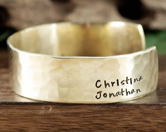 Personalized Name Cuff Bracelet, Hand Stamped Mother's Bracelet, Personalized Gift For Her, Children's Names, Christmas Gift for Mom