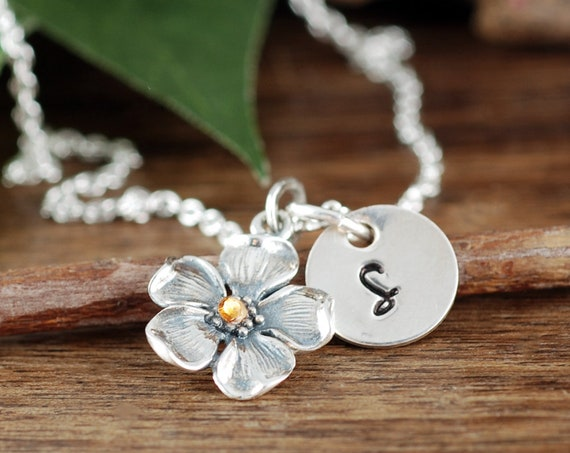 Bridesmaid Gift, Gift for Bridesmaid, Necklace, Bridesmaid Gift, Cherry Blossom Necklace, Gift for Flower Girl, Mother's Day Necklace