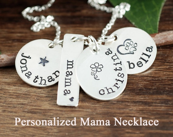 Mother's Necklace, Personalized Mom, Gift for Mom, Family Name Necklace, for Mom, Mother's Day Gift, Name Necklace, Gift for her