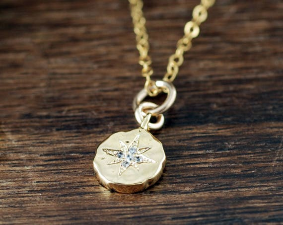 Dainty Gold Compass Necklace, Compass Jewelry, Gold Compass Necklace, Graduation Gift for Her, Minimalist Necklace, Anniversary Necklace