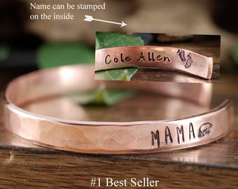 Mama Bear Cuff Bracelet, Mothers Bracelet, Personalized Cuff, Mama Bear Jewelry, Gift for Mom, Mothers Day Gift, New Mom Bracelet