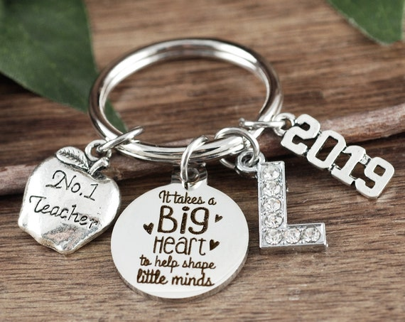 Personalized Teacher Gift, Teacher Keychain, Gifts from Students, Teacher Appreciation Gift, End of Year Gift, It takes a Big Heart to Teach