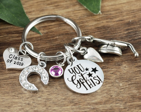 You Got This Keychain, Personalized Graduation Keychain, Graduation Gift, College Grad Gift, Graduate Gift, Class of 2019, Motivational Gift