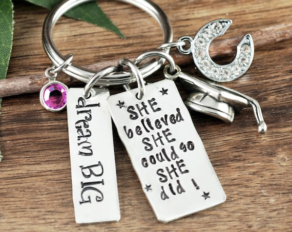 She Believed She Could Keychain, Personalized Graduation Keychain, Graduation Gift, College Graduation, Graduate Gift, Class of 2019 Gift
