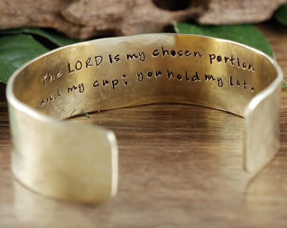Faith Bracelet, Faith Jewelry, Secret Message, Personalized Cuff Bracelet, Religious Gift, Custom Quote Bracelet, Gift for Her