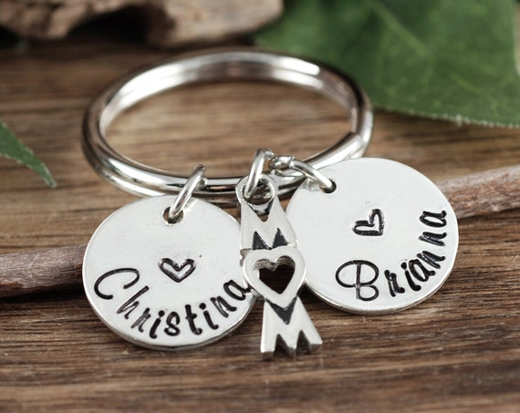 Personalized Mom Keychain, Custom Mom Keychain, Mother's Key chain Gift, Gift For Mom with Kids Names, Mother's Day Gift, Mother's Jewelry