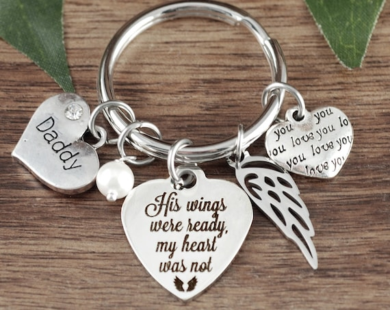 His wings were ready my heart was not, Sympathy Gift, Memorial Gift, In Memory Of,  Loss of Dad, Loss of Parent, Sympathy Gift